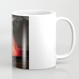Kilauea Volcano Eruption Under The Stars. Coffee Mug