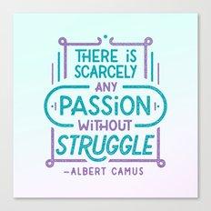 Camus on Passion Canvas Print