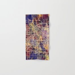 Omaha Nebraska City Map Hand & Bath Towel
