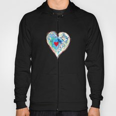 scribble heart Hoody