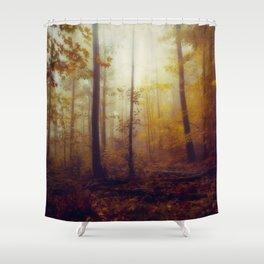 Rainwood - Dreamy Fall Forest Shower Curtain