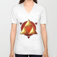 triforce V-neck T-shirts featuring Triforce by lythy