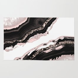 Agate Glitter Glam #4 #gem #decor #art #society6 Rug