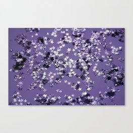 Ultra Violet Glitter Stars #1 #shiny #decor #art #society6 Canvas Print