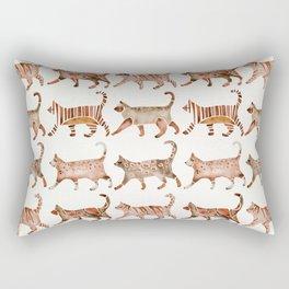 Cat Collection – Sepia Palette Rectangular Pillow
