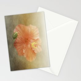 Warm Hibiscus Stationery Cards