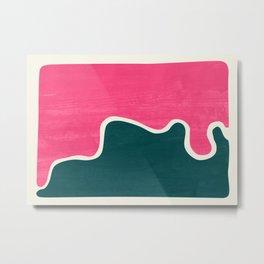 London Abstract Pink Metal Print