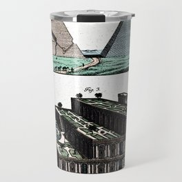 Pyramids and Floating (Suspended) Gardens of Babylon Travel Mug