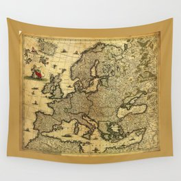 Map of Europe by Frederico de Wit (circa 1700) Wall Tapestry