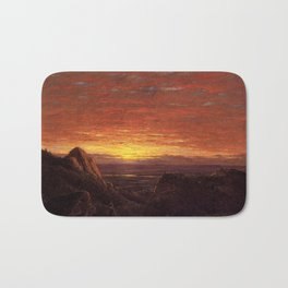 Morning Looking East over the Hudson Valley from Catskill Mountains by Frederic Edwin Church Bath Mat