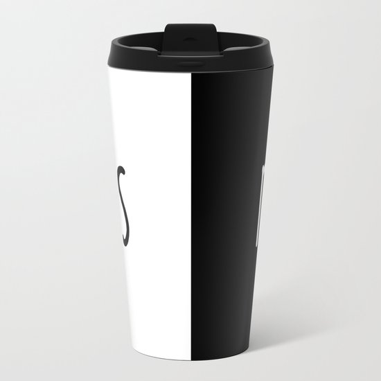 Yes/No Metal Travel Mug