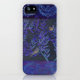 Twittering // birds // gossiping // tree branches iPhone Case