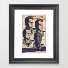 Ghostbusters 30th Anniversary Poster / VARIANT Framed Art Print