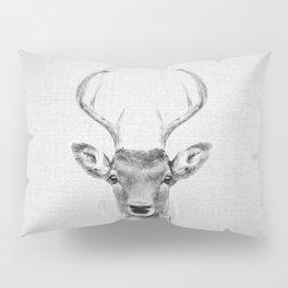 Deer 2 - Black & White Pillow Sham