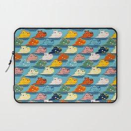 Happy Hippo Family Laptop Sleeve