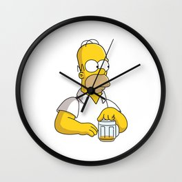 the simpson coffe Wall Clock