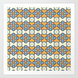Lily Pulitzer Inspired Spanish Tiles Pattern Art Print