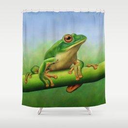 Moltrecht's Green Treefrog Shower Curtain