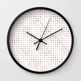 XOXO Love Me Rose Gold Pattern 3 Wall Clock