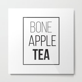 Bone Apple Tea Metal Print