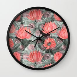 Water Lily .2 Wall Clock