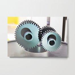 Gears of abstract mechanism Metal Print