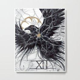 Inktober day 12: Shattered Metal Print