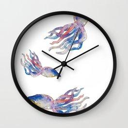 Squid Splash Wall Clock