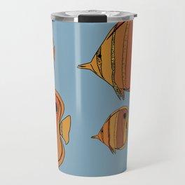 Orange Butterfly Fish Travel Mug