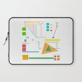 Lines, Colors and Shapes Laptop Sleeve