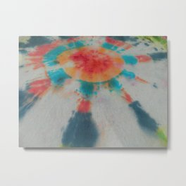 Tie Dye Colorful Bullseye Sunstreaks Metal Print