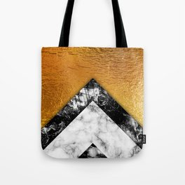 Golden foil and marble Tote Bag