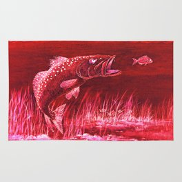 Trout Attack In Red Rug