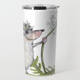 Hedgehog & Dandelion Travel Mug