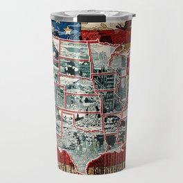 USA map 1 Travel Mug