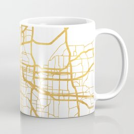 KANSAS CITY MISSOURI CITY STREET MAP ART Coffee Mug