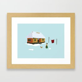 Winter nostalgia Framed Art Print