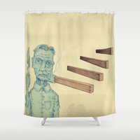 flag Shower Curtains featuring Flag Waver by DWJiggins