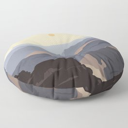 Grand Canyon Floor Pillow