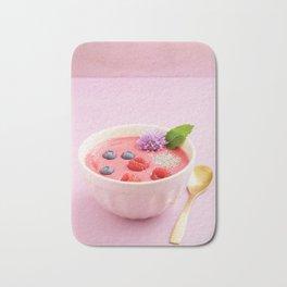Raspberry smoothie bowl Bath Mat