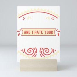 I hate your Scissor Left handed Proud Lefty Mini Art Print