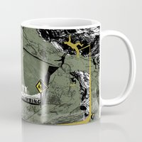 climbing Mugs featuring Rock Climbing by Robin Curtiss