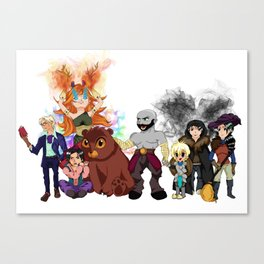 Vox Machina, Critical Role Colour Art Canvas Print