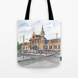 Delft Station in Watercolor Tote Bag