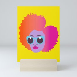 Wild Child #naturalhair #bighair #afro #afropunk Mini Art Print