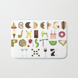 Eat Your ABCs Bath Mat