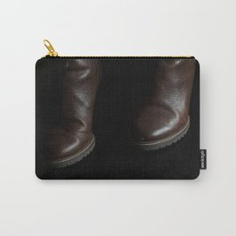 Silhouetted men with blue light wall Carry-All Pouch