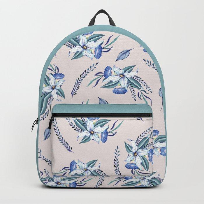 FLOWERS WATERCOLOR 23 Backpack