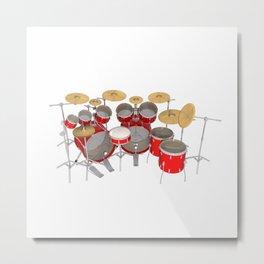 Red Drum Kit Metal Print