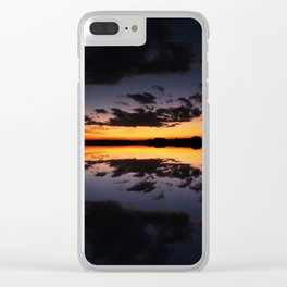 Reflecting Sunset - 4 Clear iPhone Case
